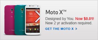 $.01 Moto X (Moto Maker Edition). New 2 year activation required.