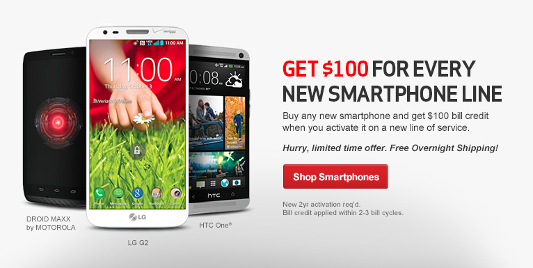 Get $100 for every new smartphone line.