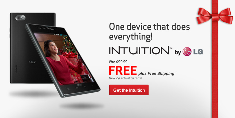 Free Intuition by LG. One device that does everything! New 2 year activation required.