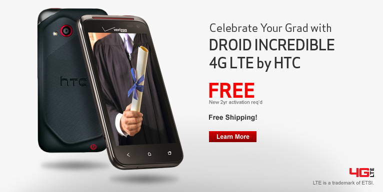 Free DROID Incredible 4G LTE