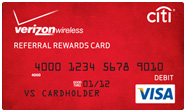 $25 Verizon Wireless Rewards Visa Prepaid Card